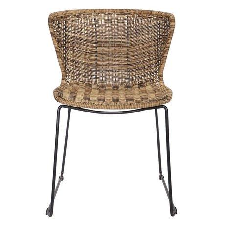 LEF collections Ailes de chaise (jardin) en plastique naturel brun ensemble de deux 77,5x54,5x54cm