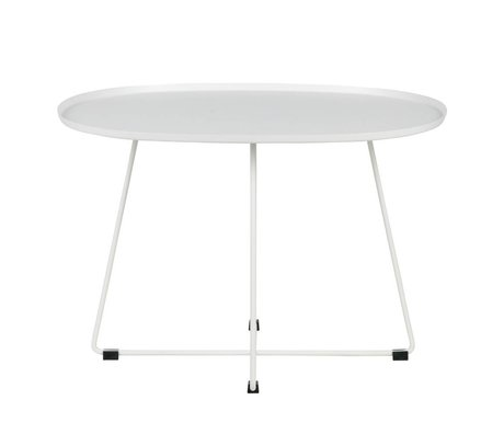LEF collections Occasional table Otis (garden) white metal XL 70x60x47cm
