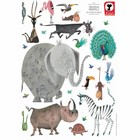 KEK Amsterdam Stickers muraux Animaux (XL) vinyle multicolore 85 x 119