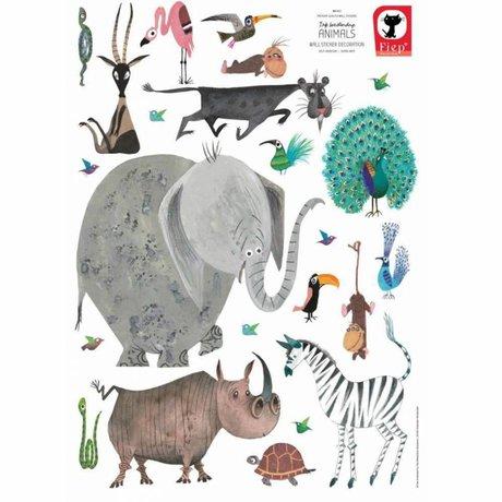 KEK Amsterdam Wandsticker Tiere (XL) mehrfarbige Vinyl 85 x 119