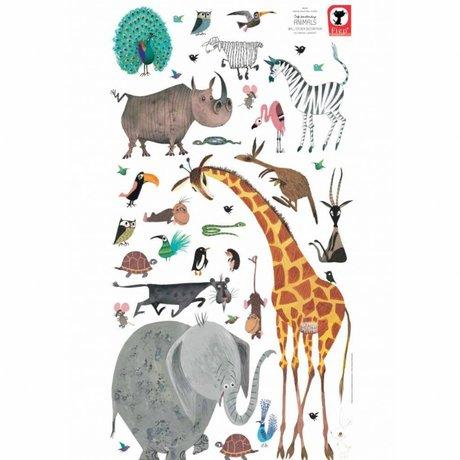 KEK Amsterdam Stickers muraux Animaux (XL) vinyle multicolore 97 x 180