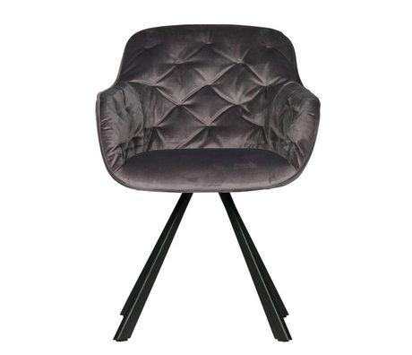 WOOOD Chaise de salle à manger Elaine anthracite gris velours 59,5x59x80,5cm