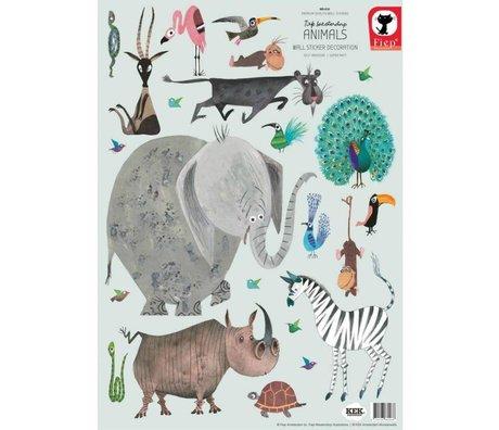 KEK Amsterdam Wandsticker Tiere (Set) Mehrfarbenvinyl 42 x 59