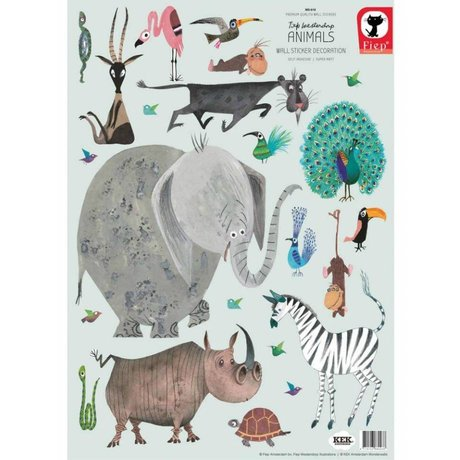 KEK Amsterdam Wall stickers Animals (set) multicolour vinyl 42 x 59
