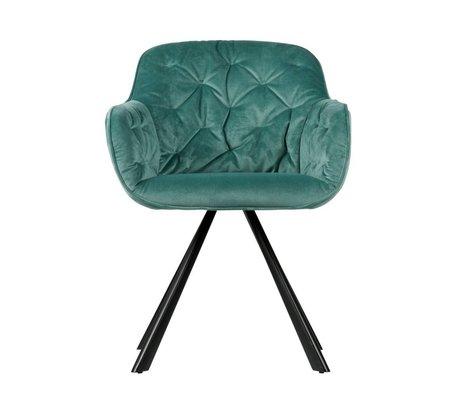 WOOOD Dining chair Elaine Ocean blue velvet 59,5x59x80,5cm
