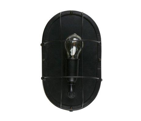WOOOD Wandleuchte Gabber schwarz Metall 18x12x30cm