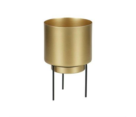 WOOOD Pot pour plante Guus laiton métal doré Ø11,5x17cm