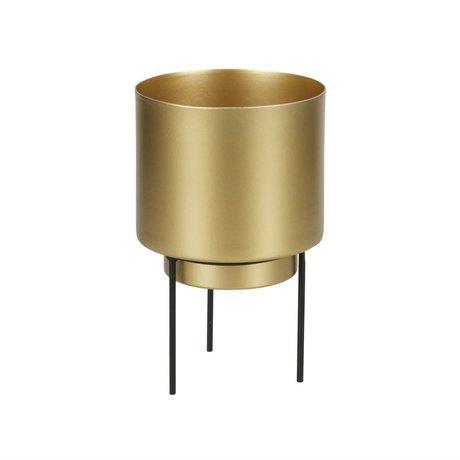 WOOOD Pot for plant Guus brass gold metal Ø11,5x17cm