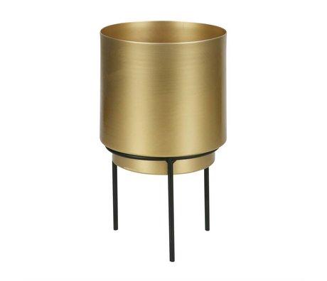 WOOOD Pot for plant Guus brass gold metal Ø13x22,5cm