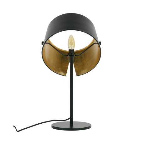 WOOOD Lampe de table Pien métal noir Ø28x53cm
