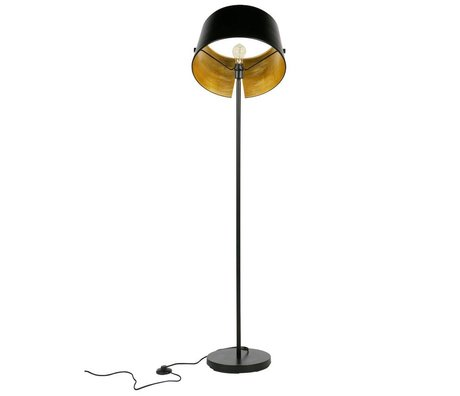 WOOOD Vloerlamp Pien zwart metaal Ø40x145cm