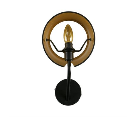 WOOOD Wandlampe Pien schwarz Metall 18x20x32cm