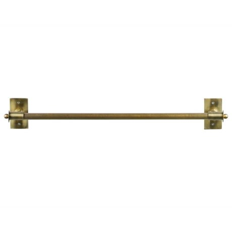 WOOOD Wall rack Pleun brass gold metal XL 84x13x12cm