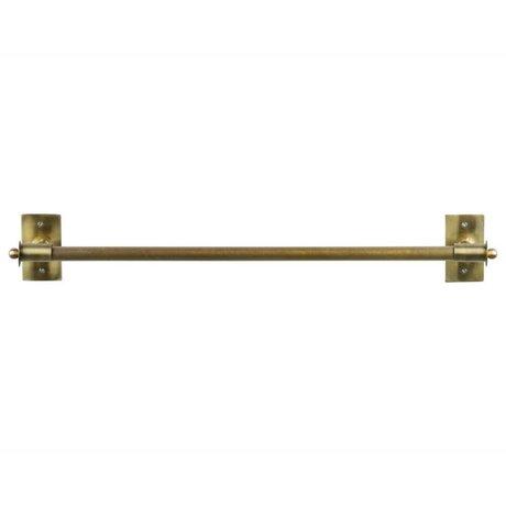 WOOOD Wandregal Pleun Messing Gold Metall XL 84x13x12cm