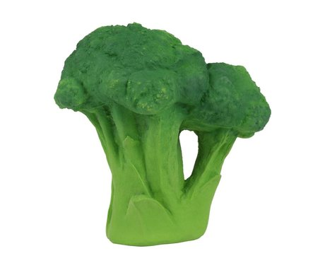 Oli & Carol Jouet de bain brocoli vert naturel caoutchouc 12cm