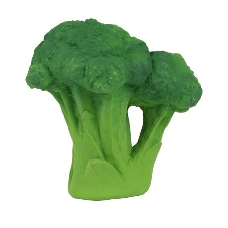 Oli & Carol Bath toy broccoli green natural rubber 12cm