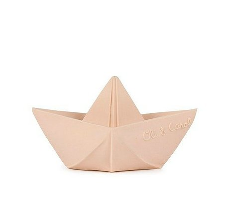 Oli & Carol Bath toy boat nude natural rubber 12x7