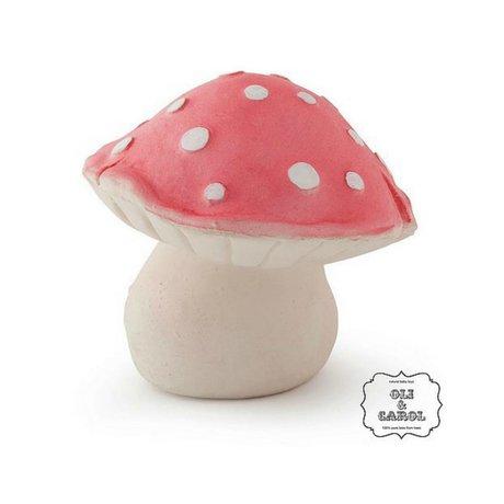 Oli & Carol Jouet de bain Forêt champignon rouge caoutchouc naturel10x8cm