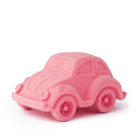 Oli & Carol Bain jouet voiture rose en caoutchouc naturel 6x10cm