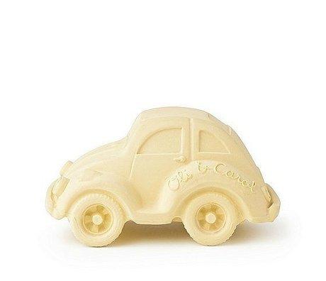 Oli & Carol Bad Spielzeugauto Vanille gelb Naturkautschuk 6x10cm