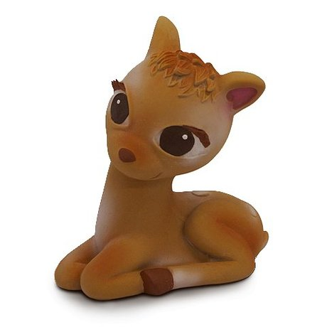 Oli & Carol Bath toy Bambi brown rubber 13x13cm
