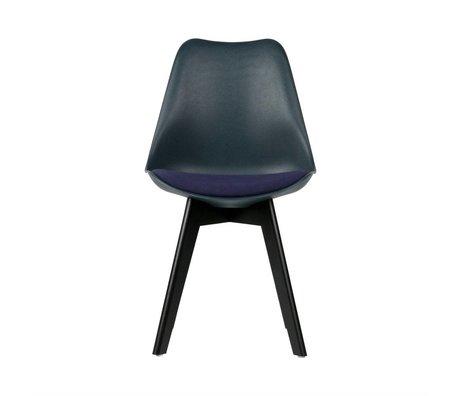 WOOOD Chaise de salle à manger Stan en bois bleu plastique de 2 47x56x82,5cm
