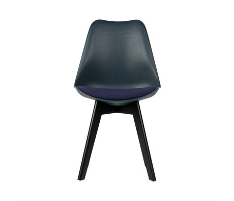 WOOOD Dining chair Stan blue plastic wood set of 2 47x56x82,5cm