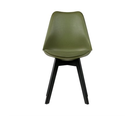 WOOOD Dining chair Stan green plastic wood set of 2 47x56x82,5cm