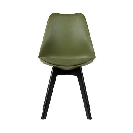 WOOOD Esszimmerstuhl Stan grün Kunststoff Holz Satz von 2 47x56x82,5cm