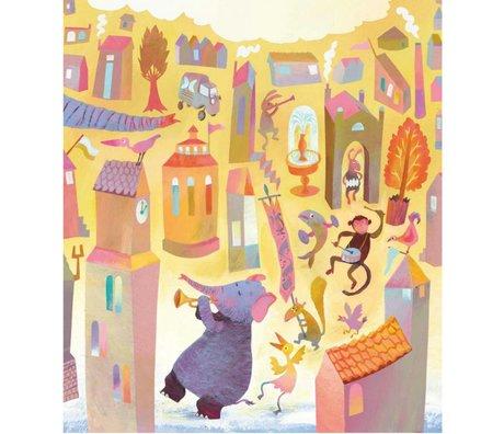 KEK Amsterdam Papier peint Parade multicolore papier non-tissé 292.2 x 280 (6 feuilles)