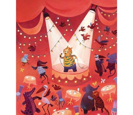 KEK Amsterdam Papier peint Karaoke tigre multicolore papier non tissé 243,5 x 280 (5 feuilles)