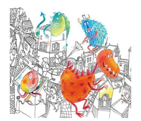 KEK Amsterdam Tapete Monster mehrfarbiges Vlies 292,2 x 280 (6 Blatt)