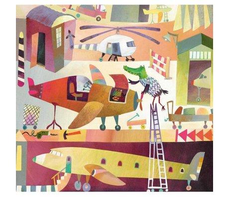 KEK Amsterdam Papier peint Papier non-tissé multicolore Airport 292.2 x 280 (6 feuilles)
