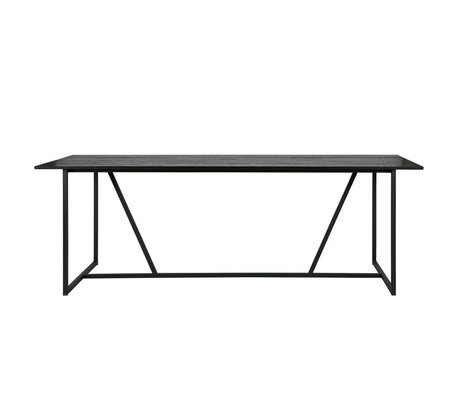 WOOOD Table à manger Silas chêne noir brossé 220x90x75cm