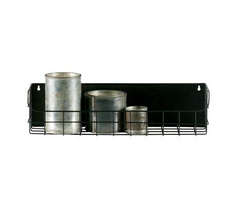 LEF collections Wandrek Lucie 50cm zwart metaal 50x15x12,5cm