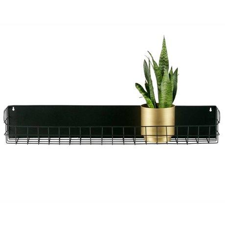 LEF collections Wandrek Lucie 80cm zwart metaal 80x15x12,5cm