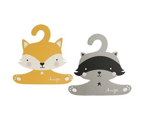 A Little Lovely Company Ensemble de cintres Raccoon & fox 27,4x27,6cm