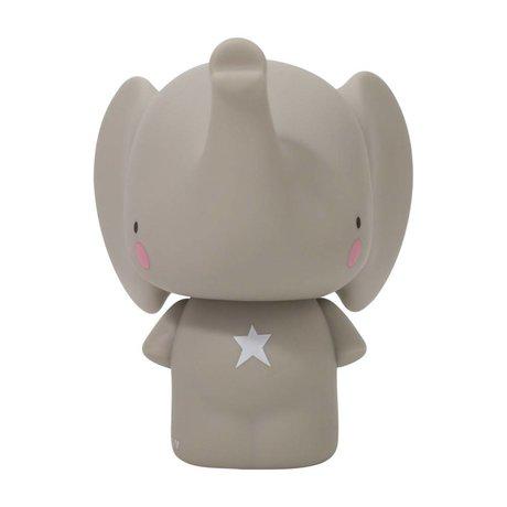 A Little Lovely Company Money box Gray elephant PVC 12,5x16,2x15 cm