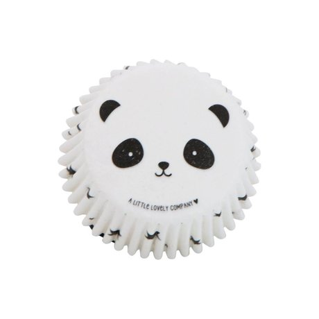 A Little Lovely Company Cupcake Formen Panda 7x3x7cm Set von 50