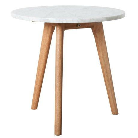 Zuiver Table d'appoint marbre blanc pierre blanche moyen Ø40x40cm gris