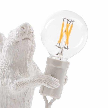 Seletti Ampoule de rechange led pour lampe de souris en plastique blanc
