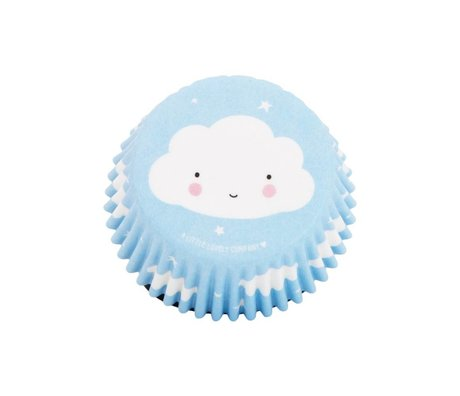 A Little Lovely Company Cupcake moule Cloud 7x3x7cm lot de 50