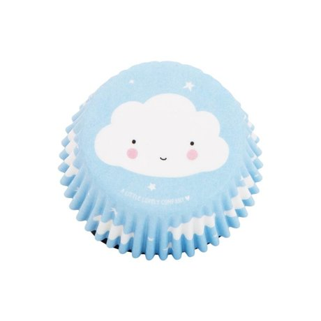 A Little Lovely Company Cupcake molds Cloud 7x3x7cm set of 50