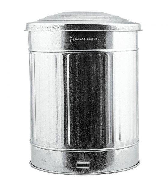 Trash Can Silver Zinc 24 Liter ø255x48cm Wonen Met Lef