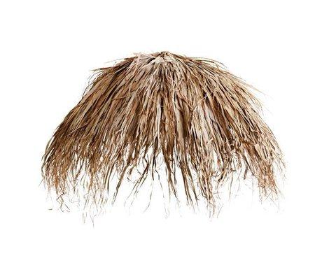 Madam Stoltz Sonnenschirm bedleaf Palmblätter naturbraun 180cm