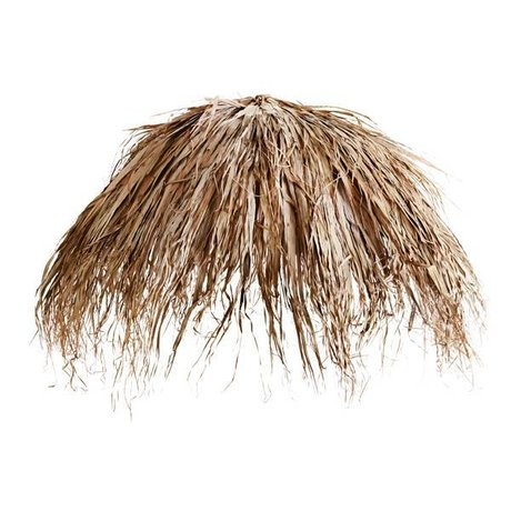 Madam Stoltz Parasol feuille de palmier feuilles brun naturel 180cm