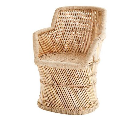 Madam Stoltz Armchair bamboo natural brown bamboo rope ∅45x78cm