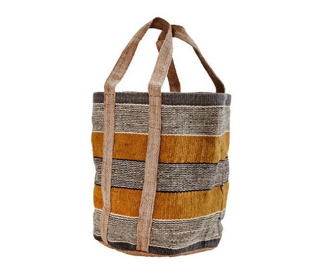 Madam Stoltz Bag multicolour jute 30x60x43cm