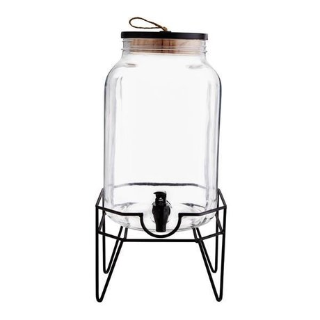 Madam Stoltz Water tap transparent glass metal ∅19x31cm