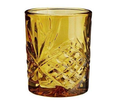 Madam Stoltz Lemonade glass amber yellow glass ∅8x10cm